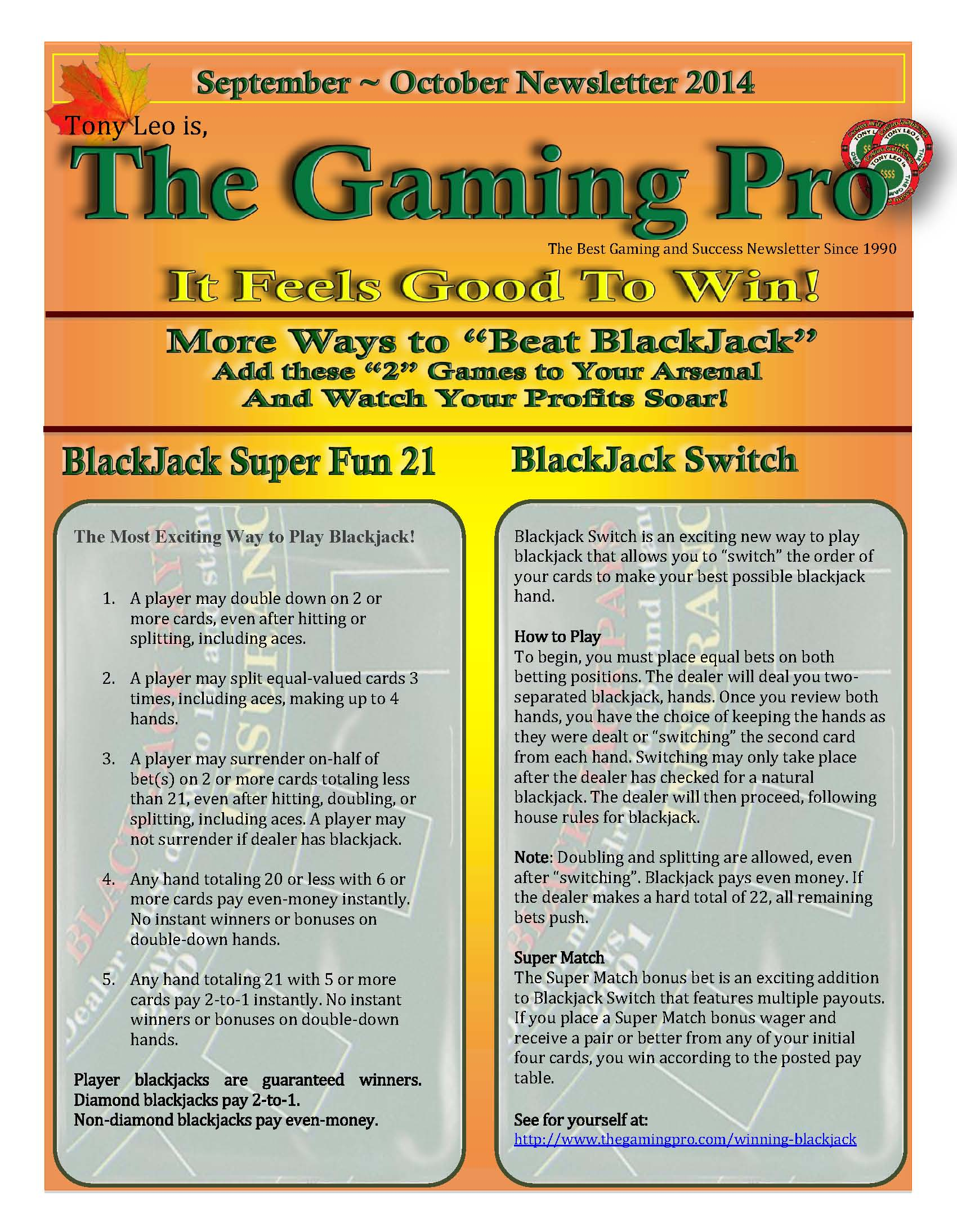 Sept Oct Newsletter 2014 The Gaming Pro 3 Way Switch Both Down Page 1