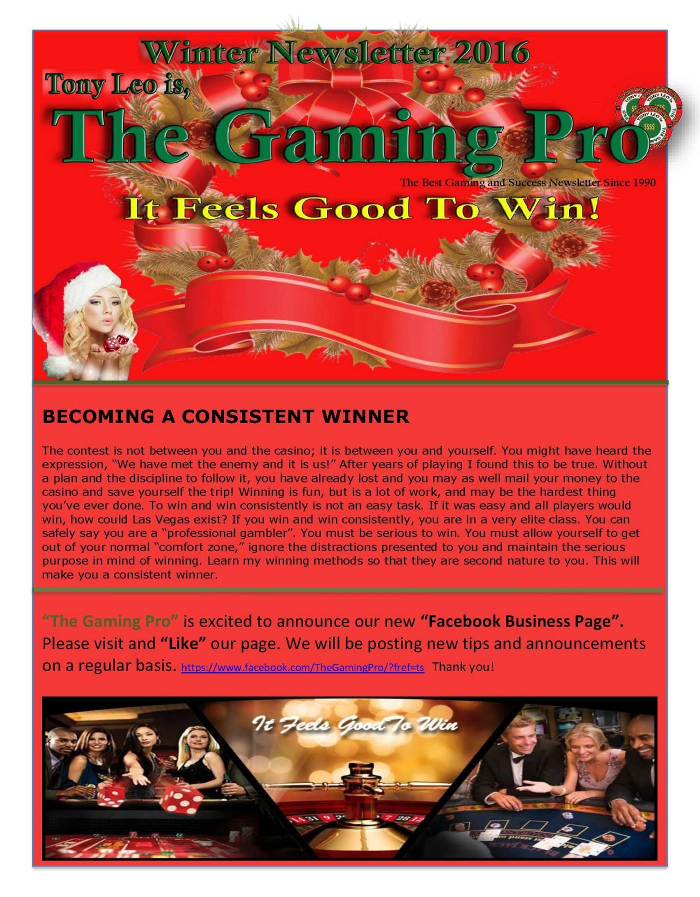 Holiday Newsletter 2016 The Gaming Pro – Holiday Newsletter